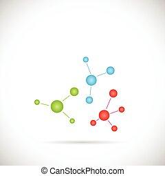 abstrakt, molekül