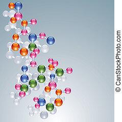 abstrakt, molekül, hintergrund