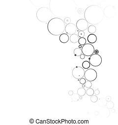 abstrakt, molekylar, bakgrund