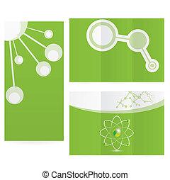 abstrakt, molekyle, videnskab, baggrund, konstruktion