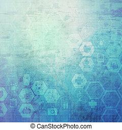 abstrakt, molekyler, medicinsk, baggrund