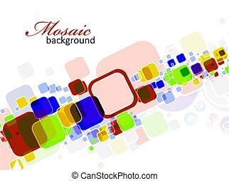 abstrakt, mosaik, bakgrund
