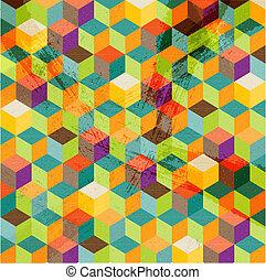 abstrakt, mosaik, hintergrund