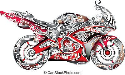 abstrakt, motorcykel
