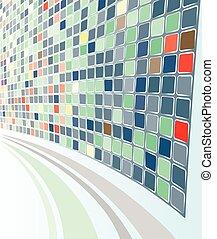 abstrakt, mozaic, perspektiv, baggrund, eps-8