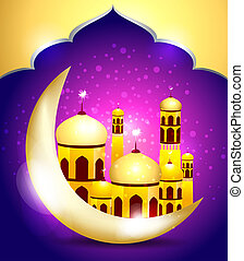 abstrakt, mubarakh, ramadan, hintergrund