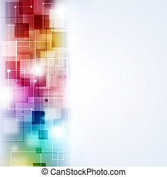 abstrakt, multicolor, teknologi, baggrund