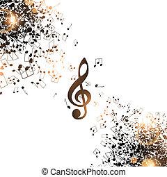 abstrakt, musik, hintergrund
