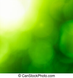 abstrakt, natur, backgound, (green, bokeh).