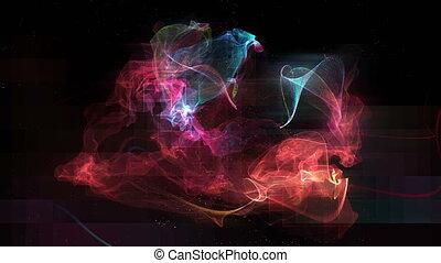 abstrakt, nebelfleck, rotation, schleife