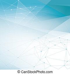 abstrakt, netværk, baggrund