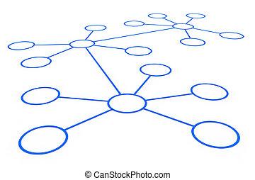 abstrakt, netværk, connection.