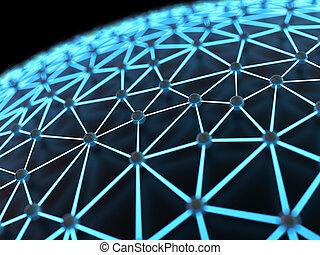 abstrakt, netværk