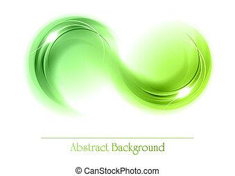 abstrakt, objekt, grön