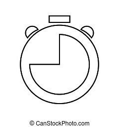 abstrakt, objekt, klocka