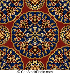 abstrakt, ornament., orientalische
