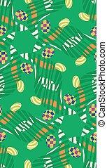 abstrakt, påsk eggar, in, gräs, mönster