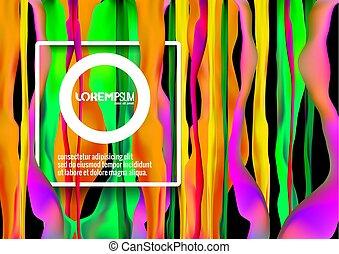 abstrakt, paint., bakgrund, flytande, strömmar, framtidstrogen