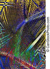 abstrakt, palme blätter, hintergrund