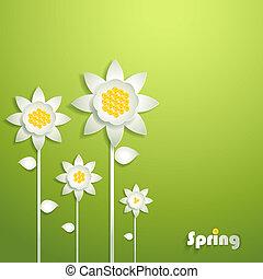 abstrakt, papier, sonnenblumen