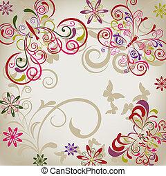 abstrakt, papillon, hintergrund