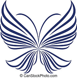 abstrakt, papillon