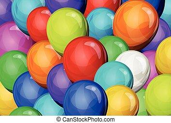 abstrakt, party, luftballone, hintergrund