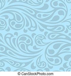 abstrakt, pattern., seamless, vatten, plaska, vågor