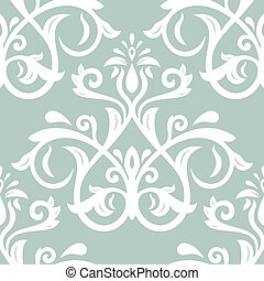 abstrakt, pattern., seamless, vektor, bakgrund, blommig, ...
