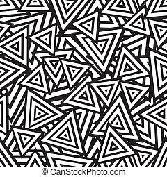 abstrakt, pattern., seamless, vektor, svart, vit
