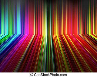 abstrakt, perspektiv, regnbåge, stripes, bakgrund