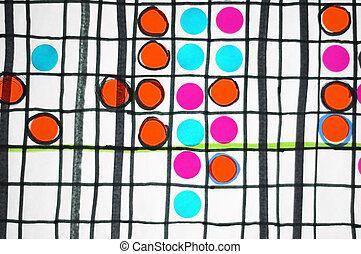 abstrakt, planke boldspil, begreb