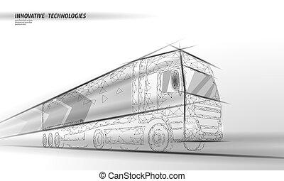 abstrakt, poly, hastighet, transport, blå, skåpbil, fasta, polygonal, låg, internationell, truck., lorry, motorväg, transport, illustration, leverans, trafik, logistic., mörk, industri, skeppning, vektor