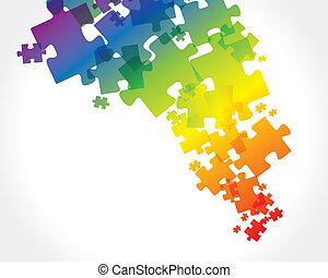 abstrakt, puzzel, hintergrund