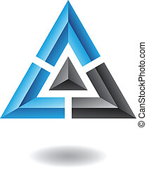 abstrakt, pyramide, dreieck, ikone