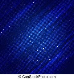 abstrakt, quadrat, formen, blauer hintergrund