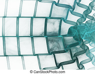 abstrakt, quadrate, fractal