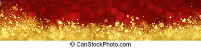 abstrakt, röd fond, guld, jul