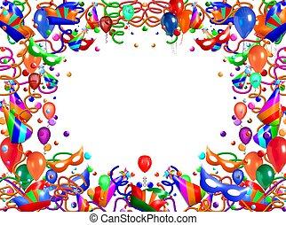 abstrakt, ram, balloon