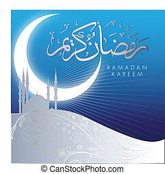 abstrakt, ramadan, kareem, feier