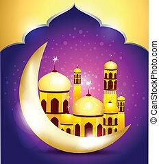abstrakt, ramadan, mubarakh