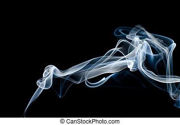 abstrakt, rauchwolken
