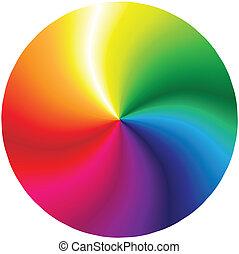 abstrakt, regenbogen, 2