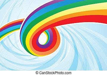abstrakt, regnbåge, flöde