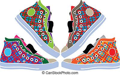 abstrakt, reko kille skor