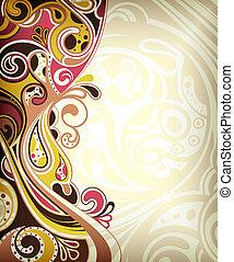 abstrakt, retro, båge