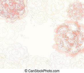 abstrakt, romantische , vektor, hintergrund