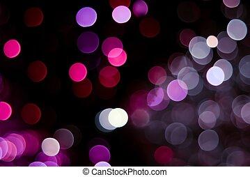 abstrakt, rosa, röd, och, violett, cirkulär, bokeh, bakgrund