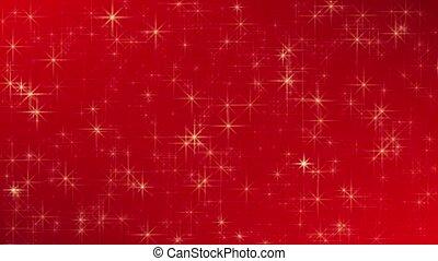 abstrakt, rotes , backgroud, mit, magisches, leuchtsignal, und, glitzern, stern