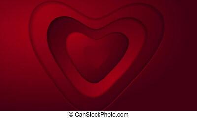 abstrakt, rotes herz, st, valentinestag, video, animation